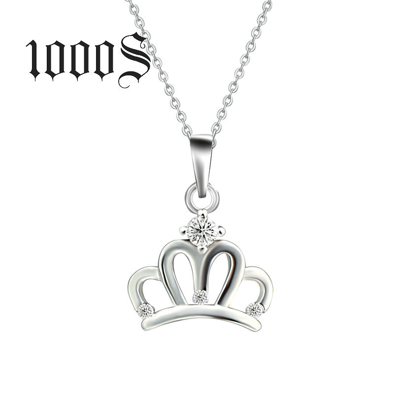 The woman S925 Sterling Silver Pendant pendant wholesale diamond crown