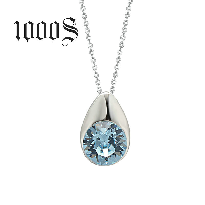 S925 Sterling Silver Pendant Silver Pendant Drop sapphire jewelry wholesale